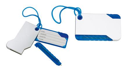 Modrá visačka na zavazadlo