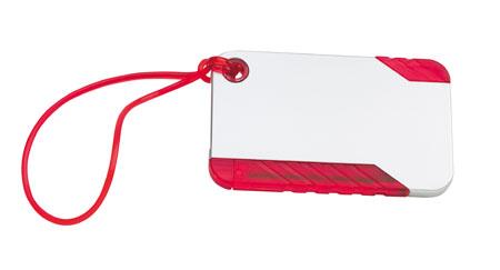 Červená visačka na zavazadlo