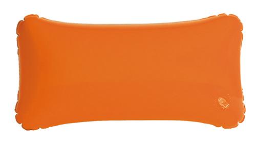 Cancún nafukovací oranžový polštář s potiskem