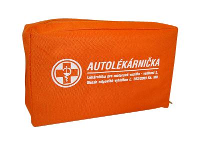 Nová oranžová lékárnička v textilním pouzdru s potiskem