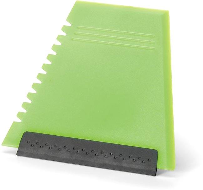 Škrabka na sklo světle zelená s potiskem