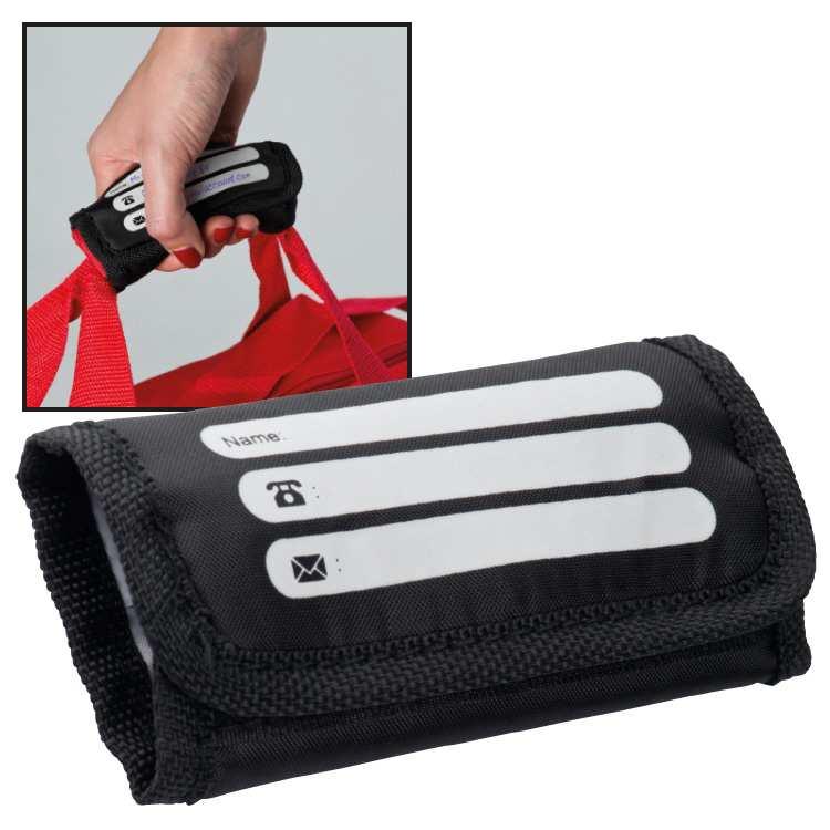 Držák na tašku se štítkem pro adresu Costa Rica