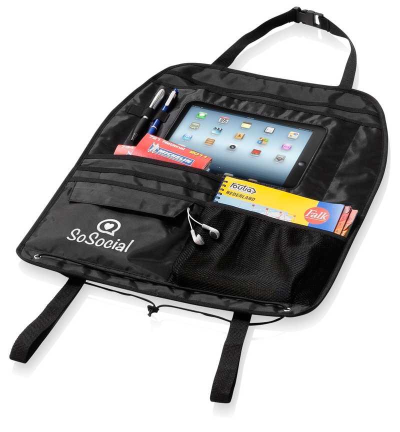 Organizér na sedadlo s prostorem pro iPad