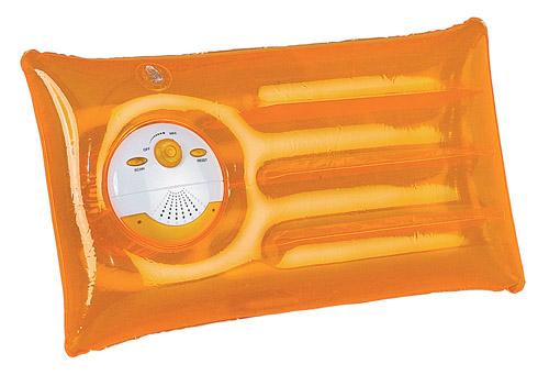 Markus oranžový polštář s rádiem