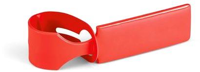 Visačka na kufr červená