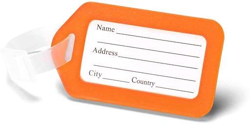 Visačka na kufr oranžová