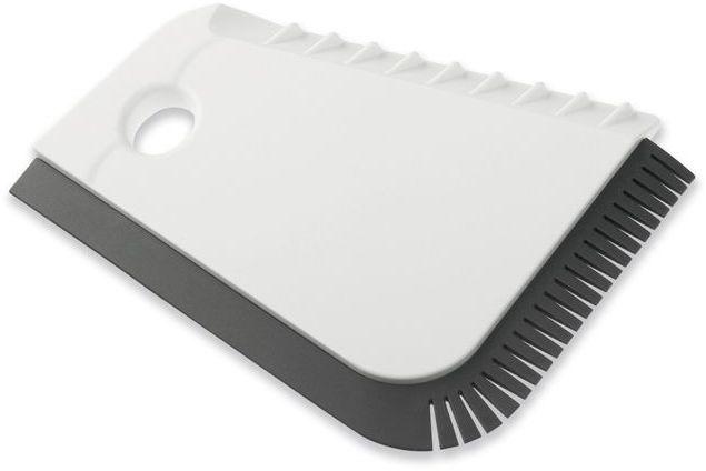 RONG plastová škrabka, bílá s potiskem
