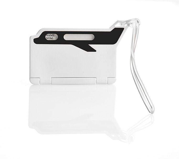 Jmenovka na zavazadla FLUG černá s potiskem