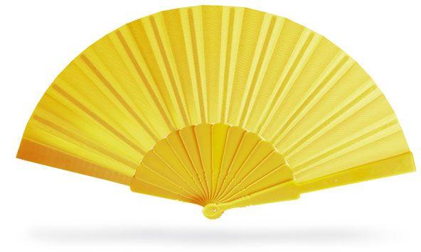 Vějíř pro letní dny žlutý