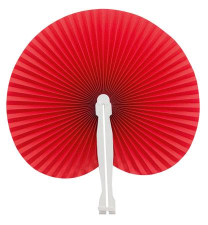 Červený vějíř z plastu