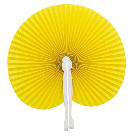 Vějíř žlutý z plastu