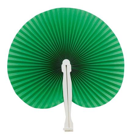 Zelený vějíř z plastu
