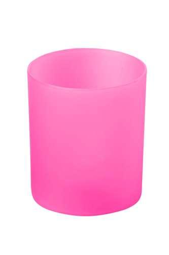 Fiobix růžová svíčka se světlem