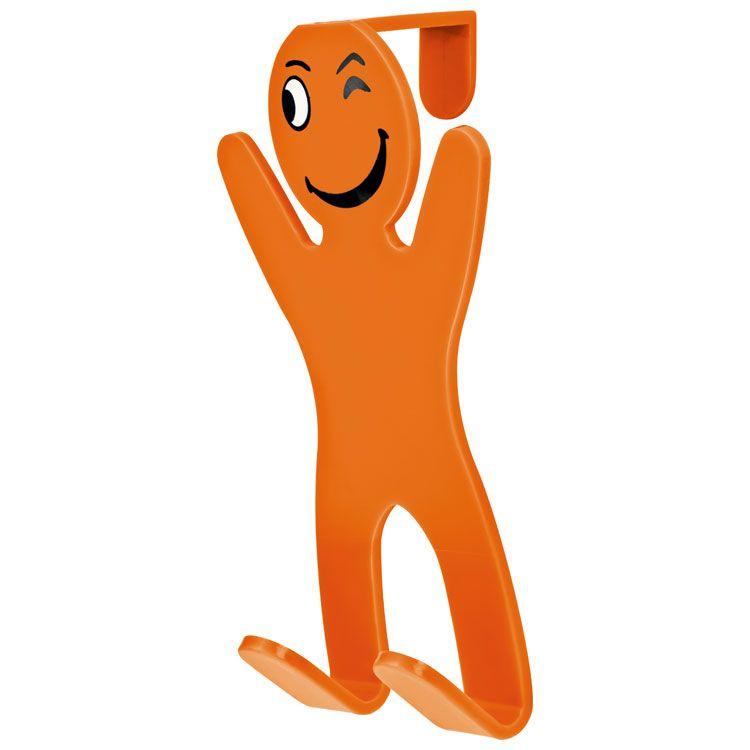 Oranžový háček na dveře Viena