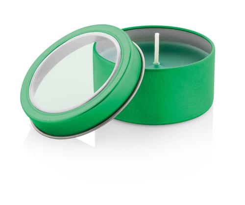Sioko zelená svíčka s potiskem