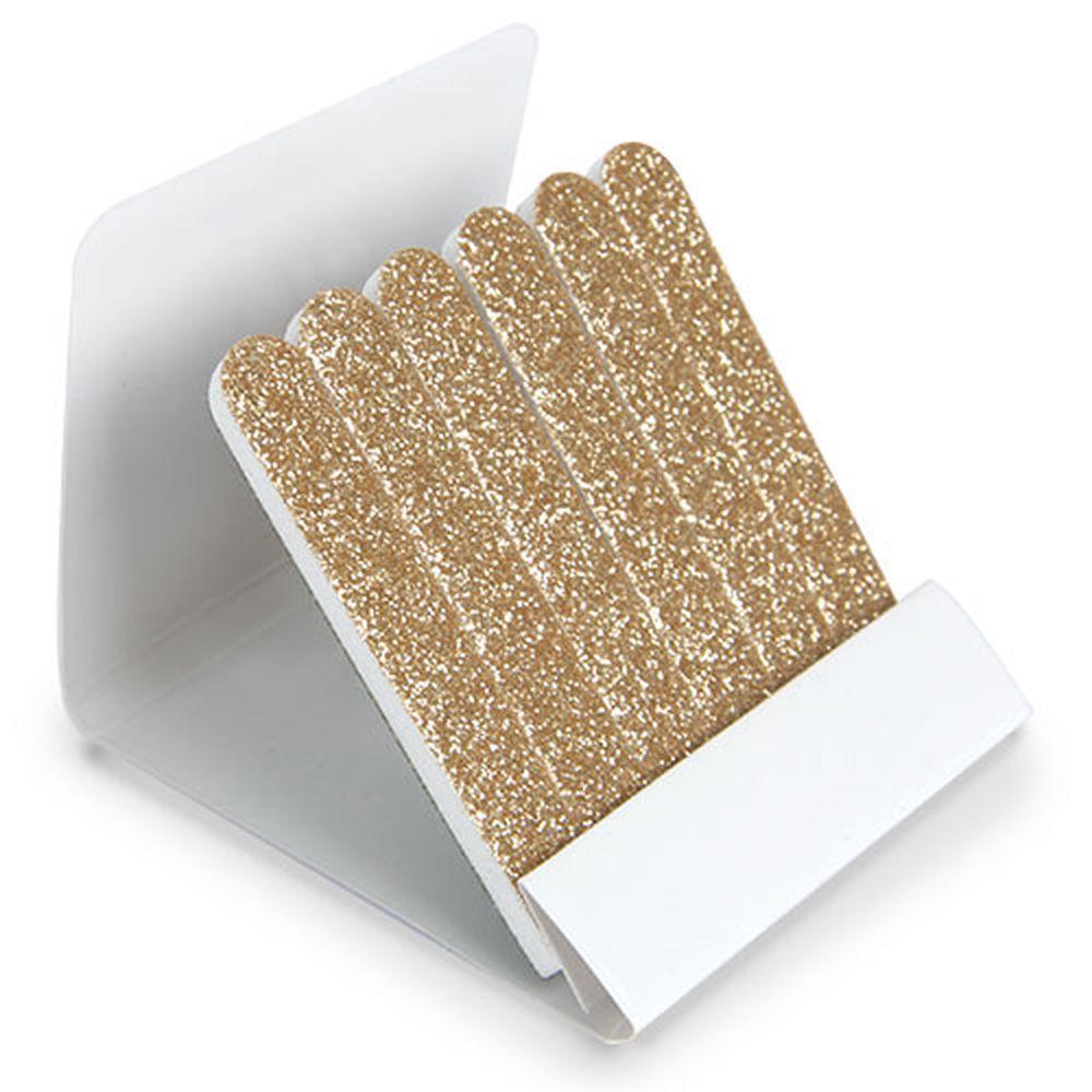 Krabička s pilníky zlatá