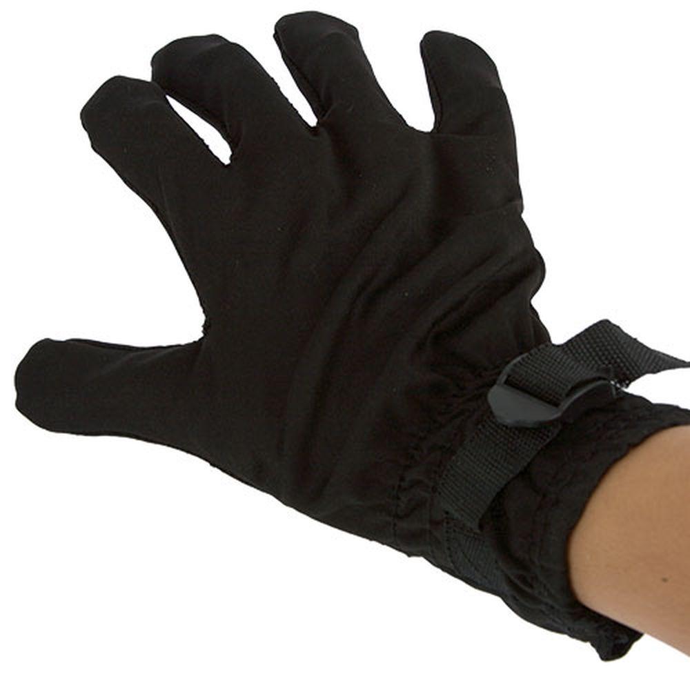 Vybrační masážní rukavice černá