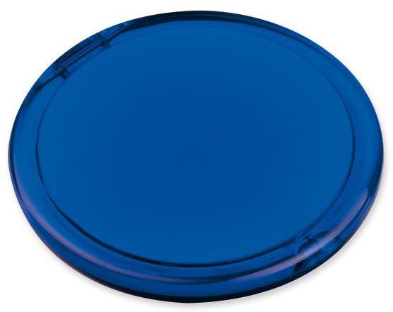 MEIRA plastové kapesní zrcátko, transp., frosty modr