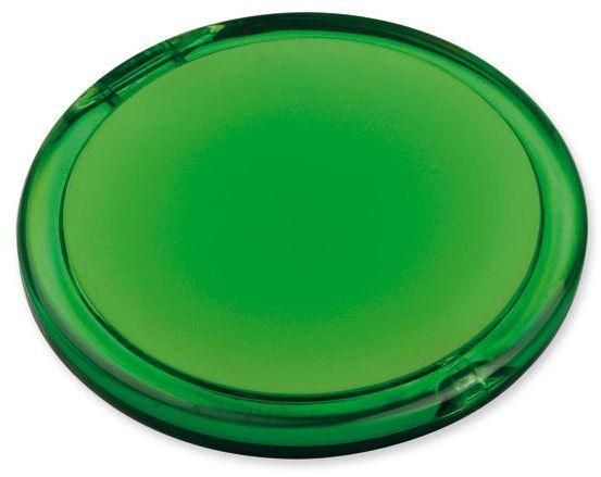 MEIRA plastové kapesní zrcátko, transp., frosty zele s potiskem