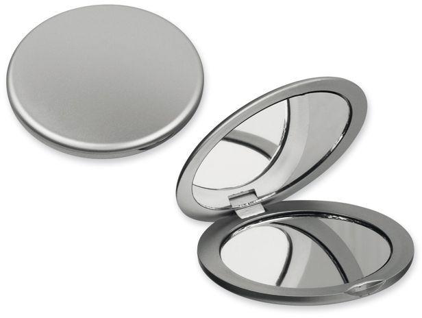 MEIRA plastové kapesní zrcátko, stříbrná