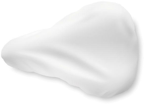 Sedlo na kolo bílé