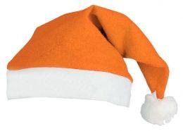 Santaklausovská čepice oranžová