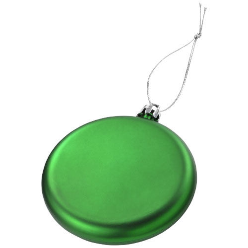 Vánoční ozdoba Dooley zelená s potiskem