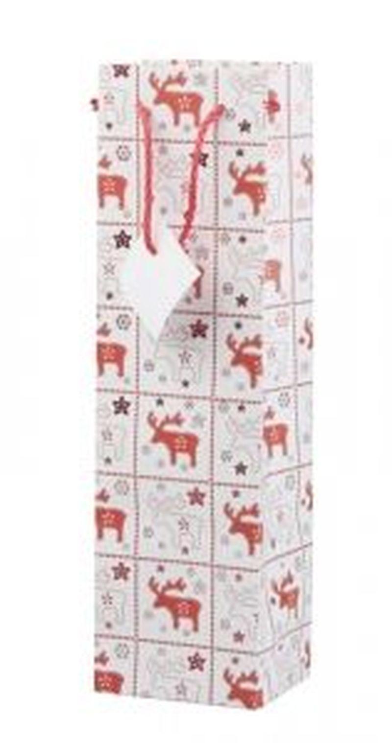 Karkkila W dárková papírová taška na víno