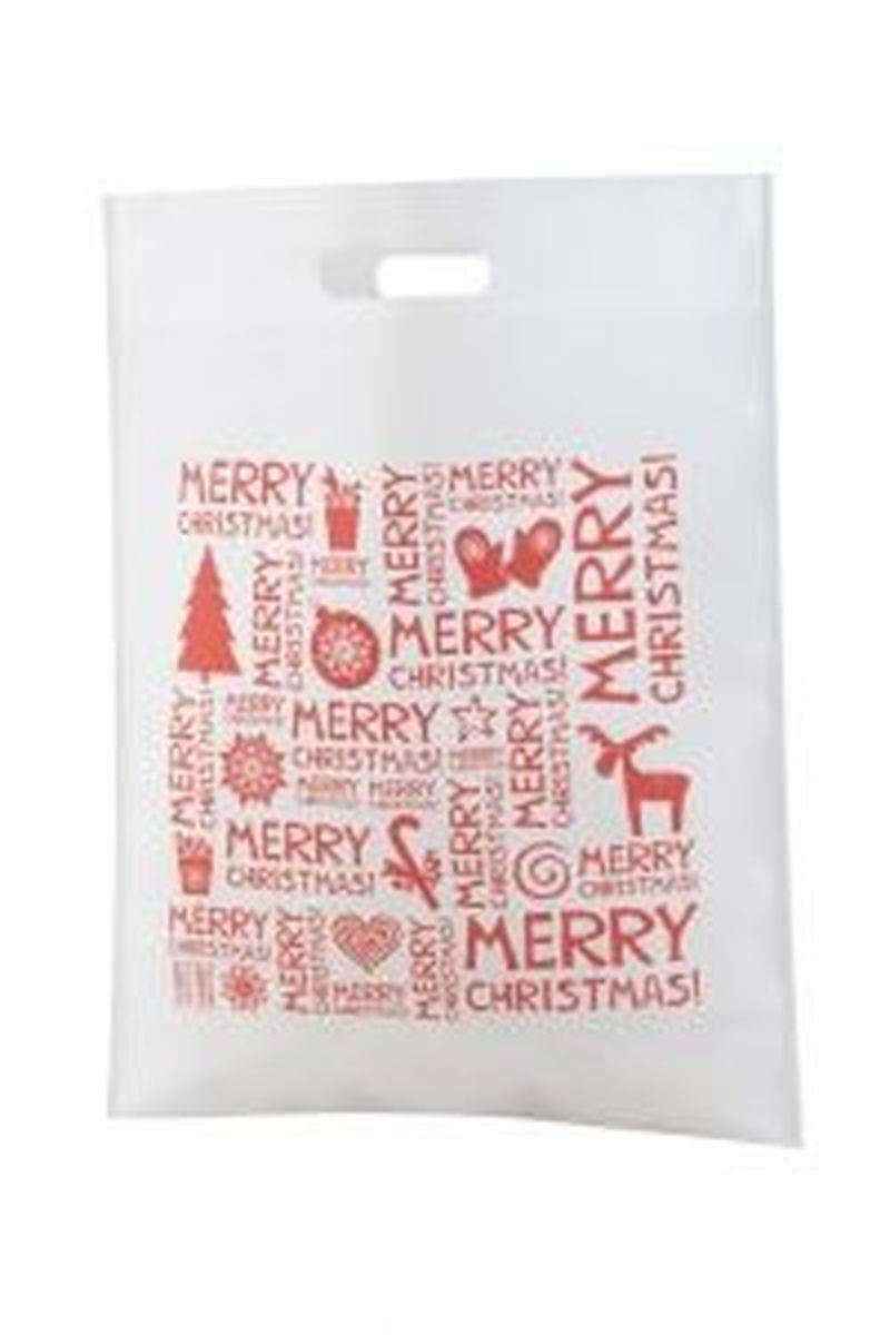 Xugi nákupní bílá vánoční taška