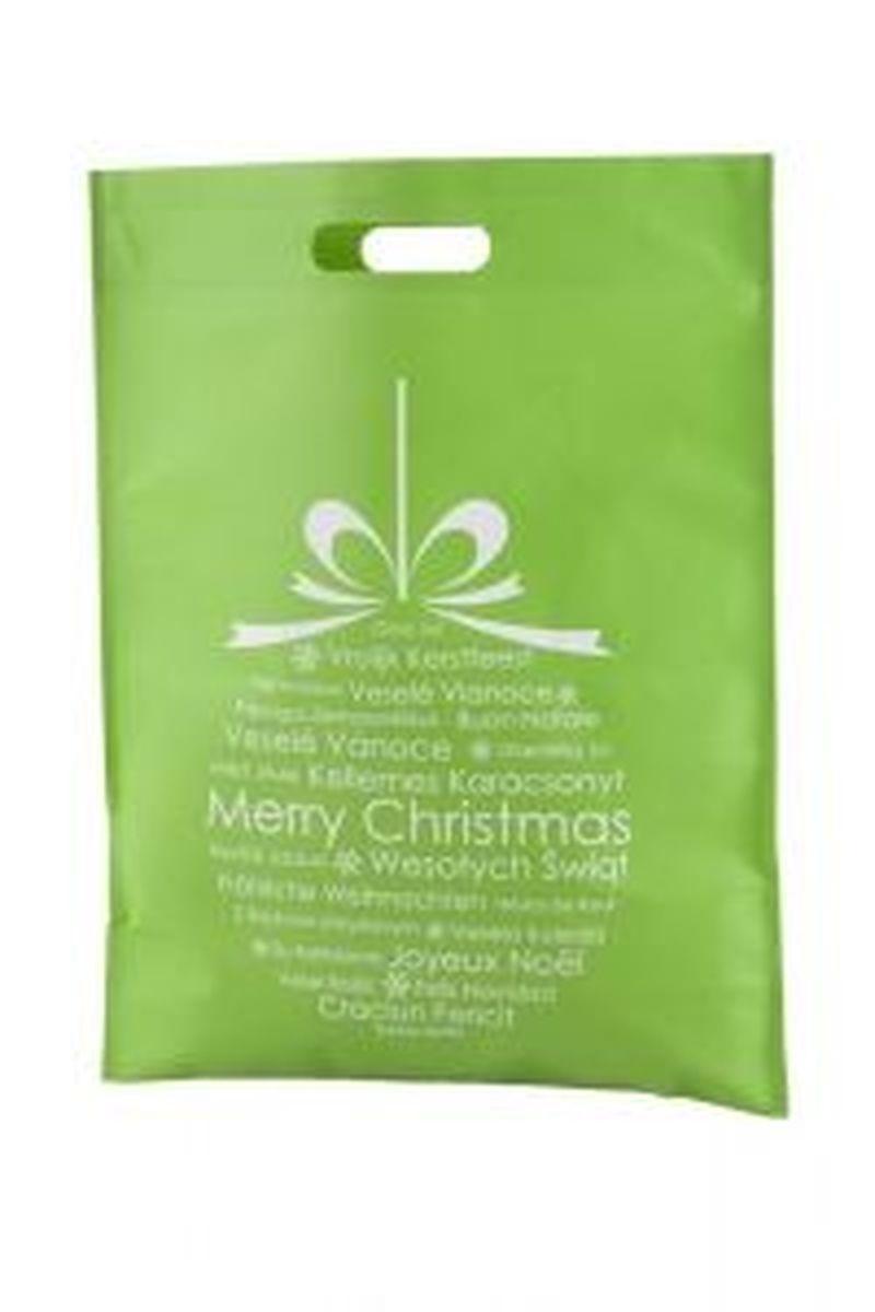 Xagi nákupní zelená vánoční taška