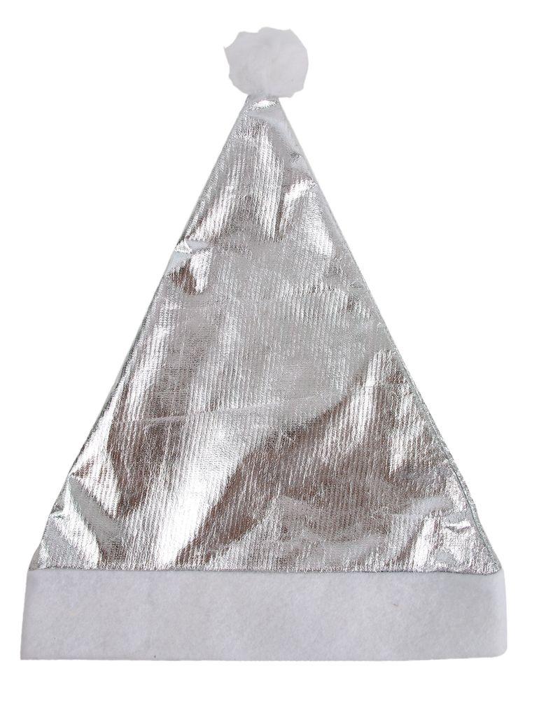Vánoční čepice stříbrná