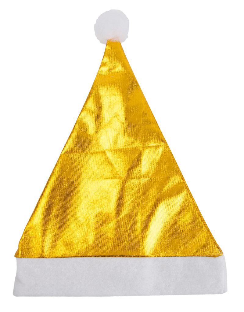 Vánoční čepice zlatá