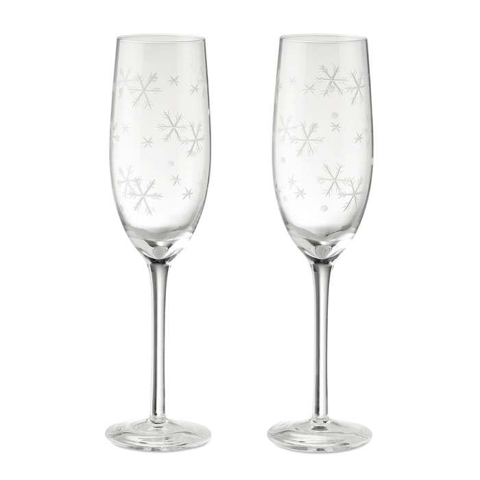 2 sklenice na sekt