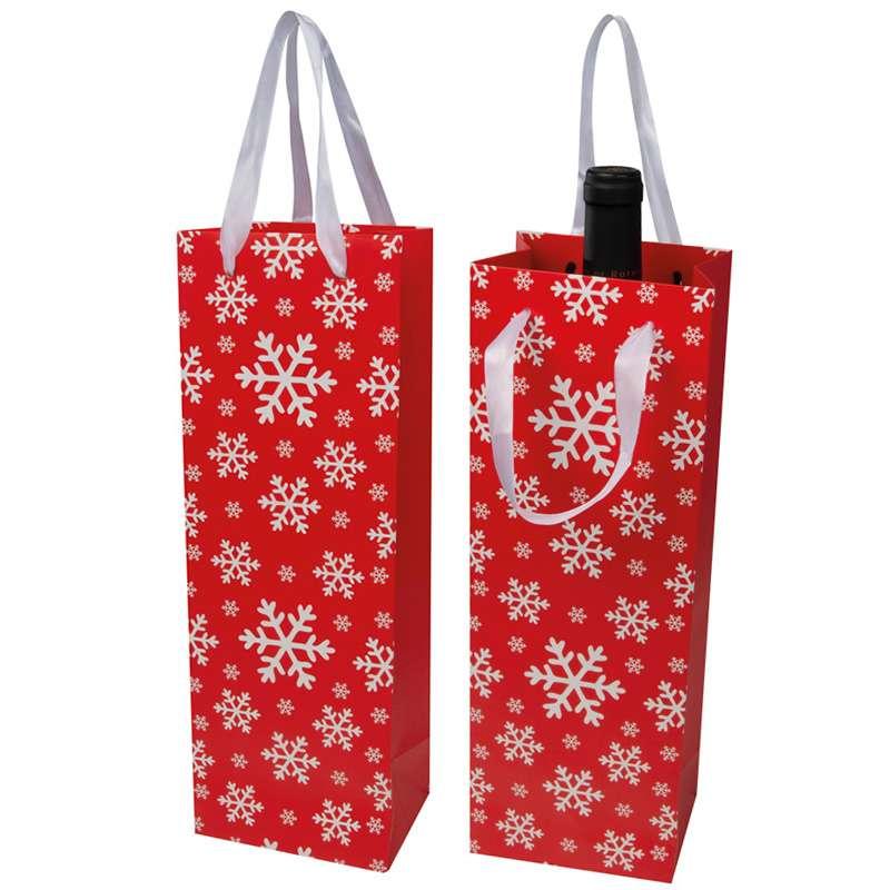 Taška na víno s vánočním motivem