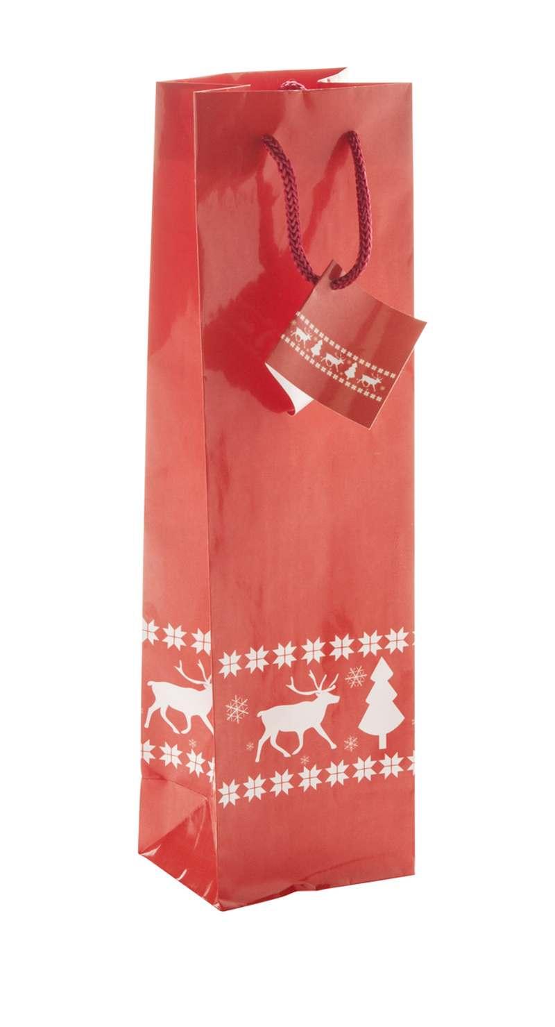 Dárková papírová taška na víno Pilpala W