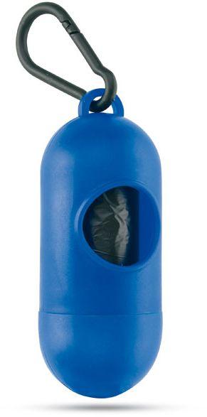 Modrý zásobník sáčku pro psy