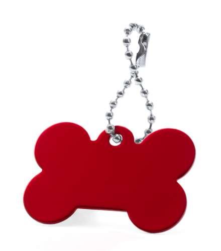 Farrow červený přívěsek psí známka