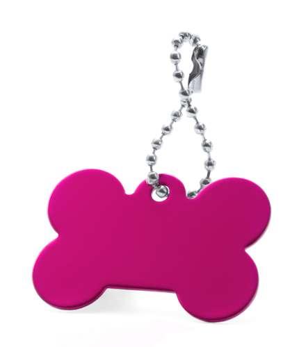 Farrow růžový přívěsek psí známka s potiskem