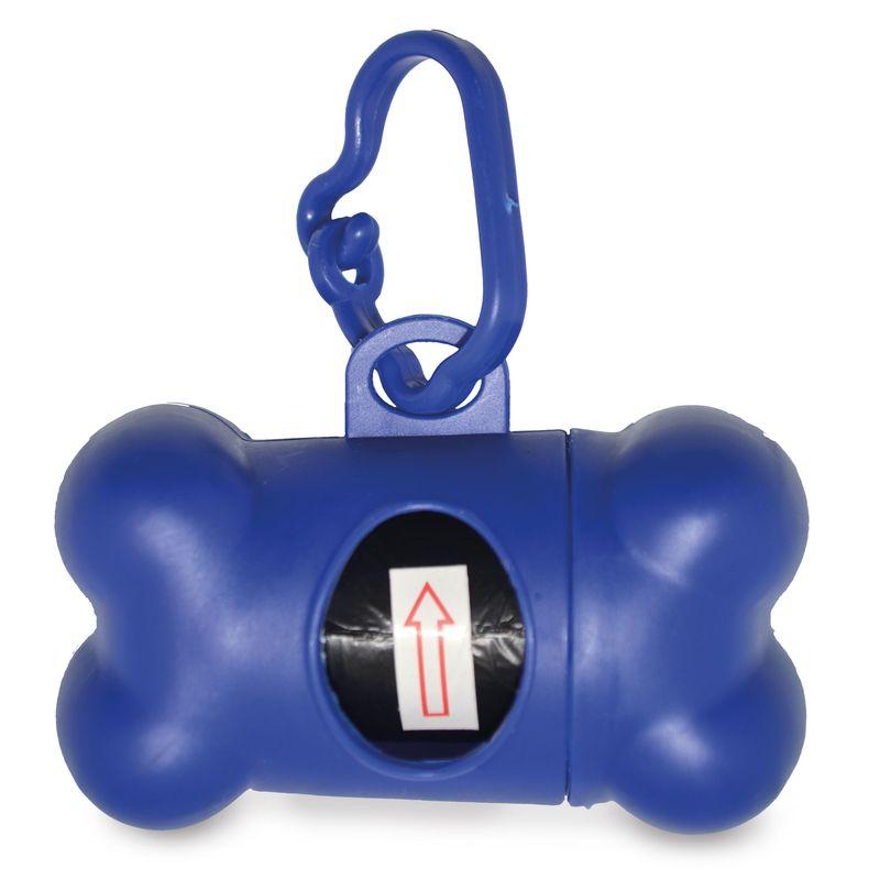 Zásobník na sáčky modrý
