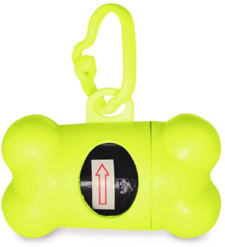 Zásobník na sáčky zeleno-žlutý