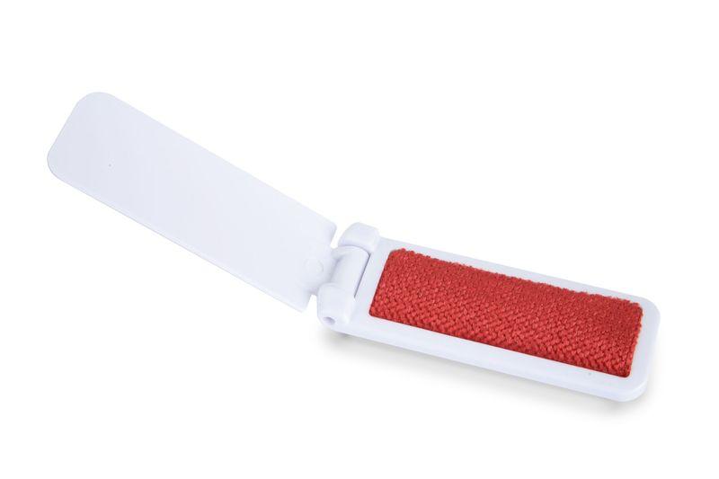 Kartáč na srst bílo-červený