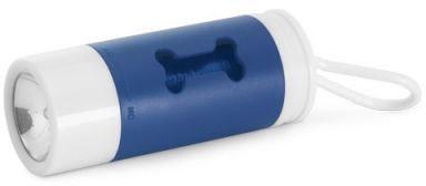 Zásobník na plastové sáčky s LED svítilnou modrý