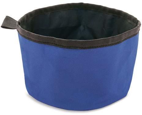 Textilní miska na krmení, modrá