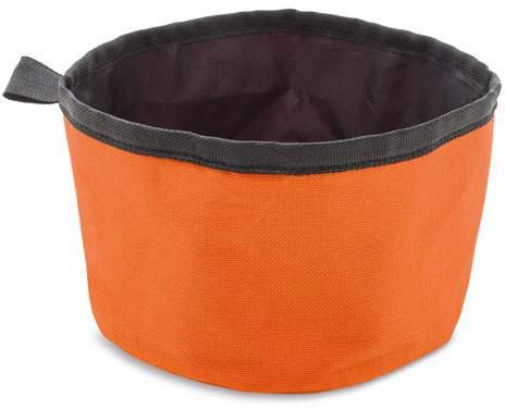 Textilní miska na krmení, oranžová