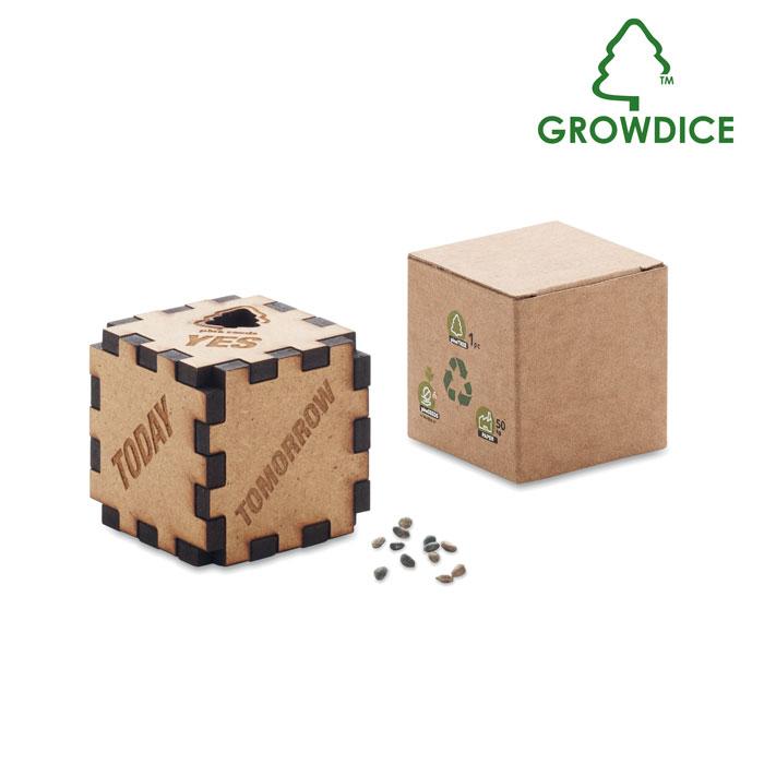 GROWDICE hrací kostka z borovice