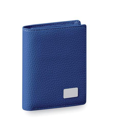 Modrá peněženka z umělé kůže