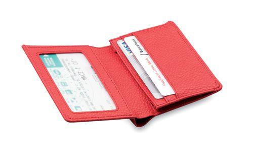 Červená peněženka z umělé kůže