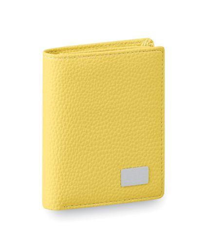 Žlutá peněženka z umělé kůže
