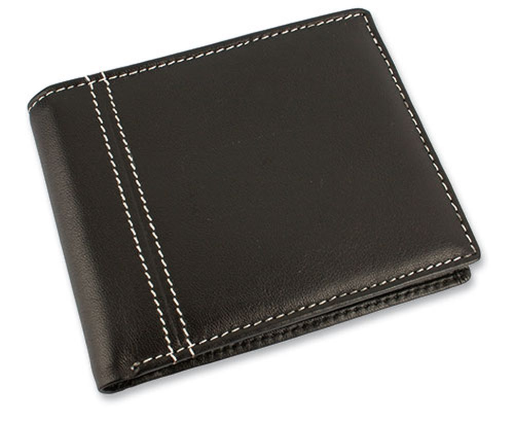 Kožená americká peněženka černá