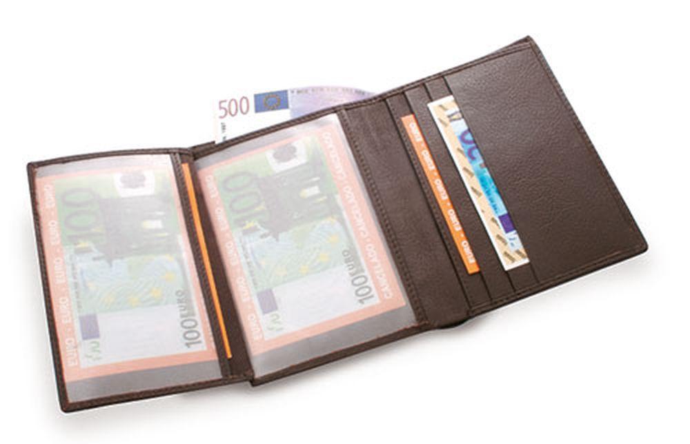 Kožená peněženka hnedá